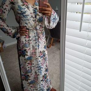 Floral Boho Maxi Dress XS